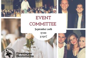 Event Committee Promotional Poster