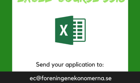 Project leader for Excel-course ss18