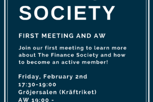 Finance Society Open Meeting