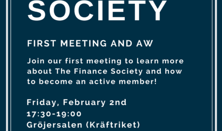 The Finance Society first meeting 2018