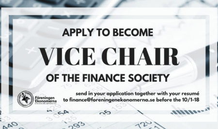 Vice Chair for Finance Society