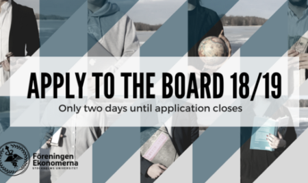 LAST DAY TO APPLY FOR THE BOARD OF 18/19!